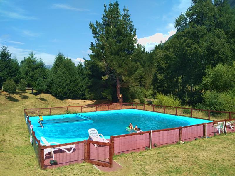 cabaña con piscina en pucon