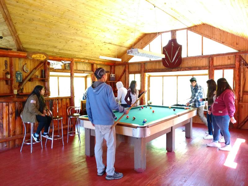 cabañas con mesa de pool en pucon